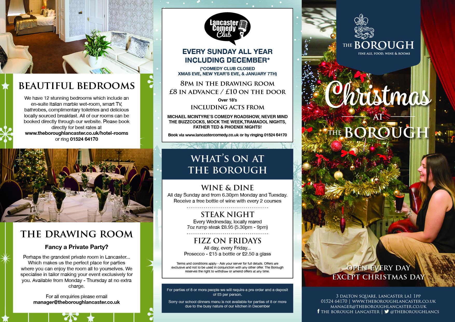 Christmas 2017 At The BoroughChristmas Borough BoroughLiving Room Glasgow Menu Living Edinburgh