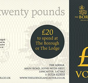 The Lodge & The Borough Gift Voucher £10